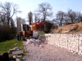 Nymburk - opěrná zeď gabiony